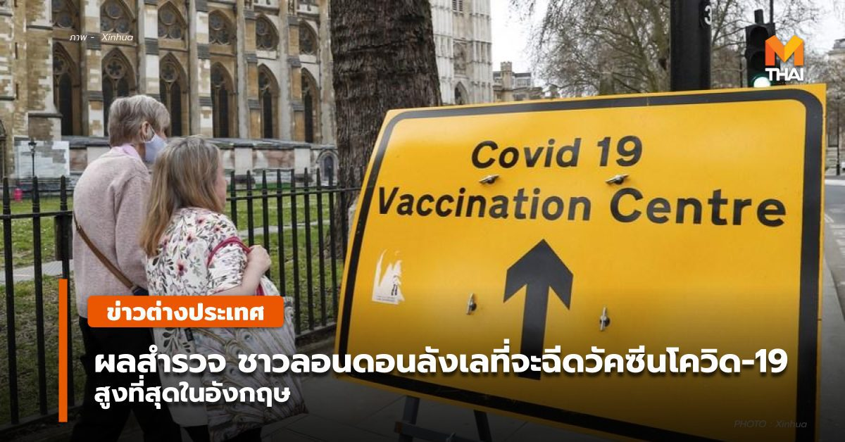 สำรวจชี้ 'ชาวลอนดอน' ลังเลฉีดวัคซีนโควิด-19 สูงสุดของประเทศ