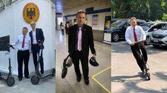 เยี่ยมมากท่านทูต ทูตเยอรมันใช้สกูตเตอร์ เดินในไทยทางแทนรถประจำตำแหน่ง