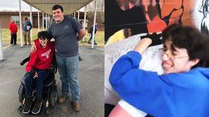 เพื่อนไม่ทิ้งกัน เด็กมัธยมทำพาร์ทไทม์ 2 ปี ซื้อวีลแชร์ให้เพื่อนผู้พิการ