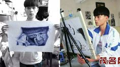 ไม่ท้อแม้ครูมองไม่ดี! Deng Lingyun เด็กจีน สร้างสรรค์ภาพวาดจากปากกาลูกลื่น
