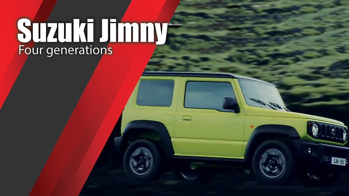 New Suzuki Jimny - Four generations