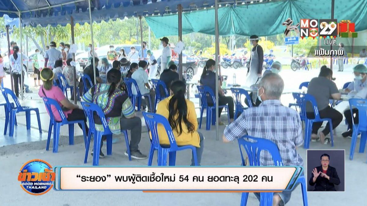 """""""ระยอง"""" พบผู้ติดเชื้อใหม่ 54 คน ยอดทะลุ 202 คน"""