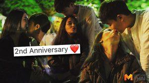 หวานไม่มีหมดโปร!! โม อมีนา โชว์จูบแฟนทอม ฉลองครบรอบ 2 ปี