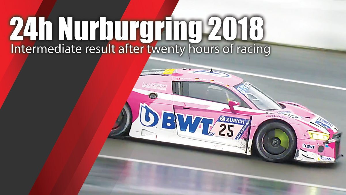 24h Nuerburgring 2018 - Intermediate result after twenty hours of racing