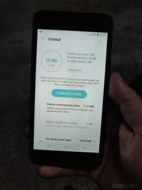 ความจุภายในของ Samsung Android Go