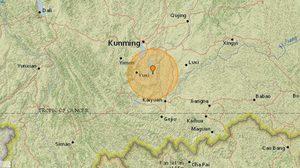 แผ่นดินไหวในมณฑลหยุนนาน ประเทศจีน บาดเจ็บ 18 คน