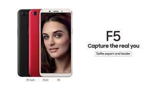 OPPO เปิดตัว F5 เซลฟี่ขั้นสูงกับเทคโนโลยี A.I มาพร้อมจอ Full Screen