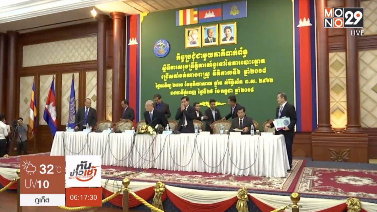 พรรครัฐบาลกัมพูชาอ้างชัยชนะในการเลือกตั้ง