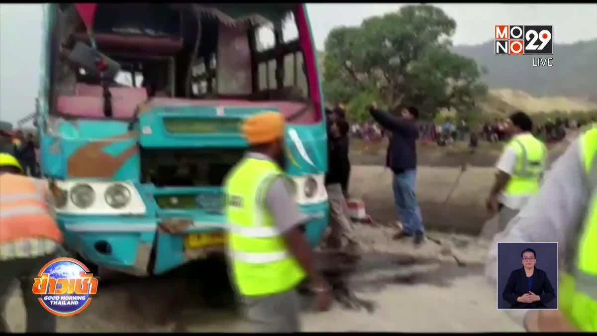 รถบัสตกสะพานในอินเดีย ดับ 42