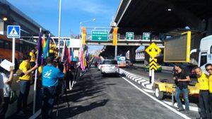 เปิดแล้ว! สะพานทางเข้าสนามบินดอนเมือง หลังทุบรื้อสร้างใหม่