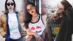 Logos &  Wording T-Shirts ส่องลุคคลาสสิคกับเสื้อยืดสกรีนลาย สร้างความสตรีทเต็มตัว