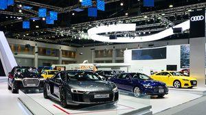 Audi อวดโฉมรถซุปเปอร์คาร์ Audi R8 Coupé V10 พร้อมเปิดตัวรุ่น A4 Avant Black Edition และ A5 Sportback ในงาน Motor Expo 2017