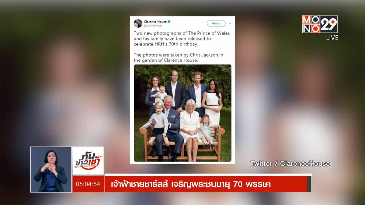 ทันข่าวเช้า Good Morning Thailand 15-11-61