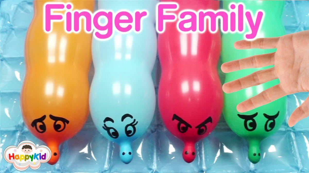 เพลง Finger Family #4 | เจาะลูกโป่งหนอน m&m | Learn Color With Worm Balloon