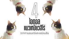 4 ไอดอล แมวเหมียวฮีโร่ จากภาพยนตร์และแอนิเมชัน