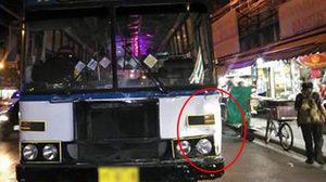 เปิดภาพสยอง! นาทีรถเมล์เบรกจม ปีนฟุตปาธ ชนคนเดินเท้าดับสยอง