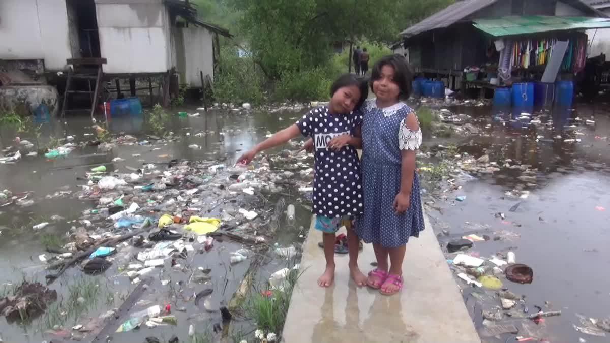 น้ำท่วม! ชุมชนเกาะมุกเดือดร้อนกว่า 130 หลังคาเรือน