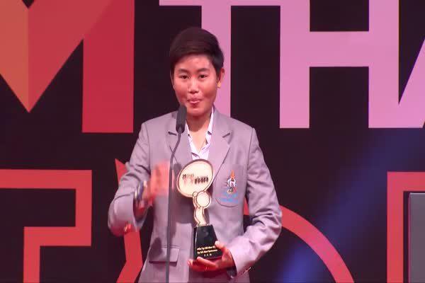 จุฑาทิพย์ มณีพันธ์ นักปั่นจักรยาน รับรางวัล Top Talk-About Sportswoman