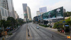 [ประมวลภาพ] กรุงเทพถนนโล่ง หลังคนแห่เดินทางออกต่างจังหวัด