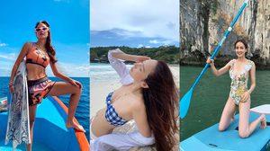 50 ไอเดีย โพสต์ท่าในชุดว่ายน้ำ ให้สวยปังแบบดารา