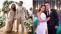 5 ชุดแต่งงาน เทย่า โรเจอร์ส เน้นสวยแบบเรียบหรู แต่แฝงดีเทลไว้ทุกชุด