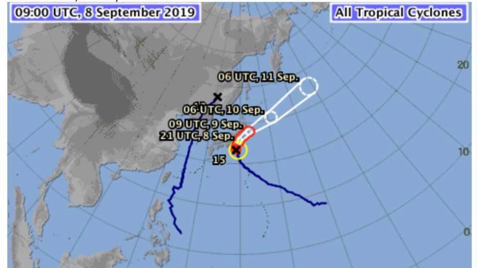 เตือนภัย คนไทยในญุี่ปุ่น ระวังไต้ฝุ่นหมายเลข 15 (Faxai)