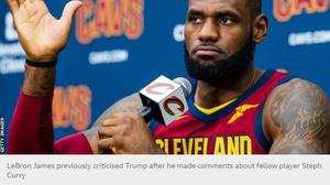 """เลอบรอน เจมส์จวกทรัมป์เป็นพวก""""กุ๊ย""""อัดอย่าใช้กีฬาเป็นเครื่องมือการเมือง"""