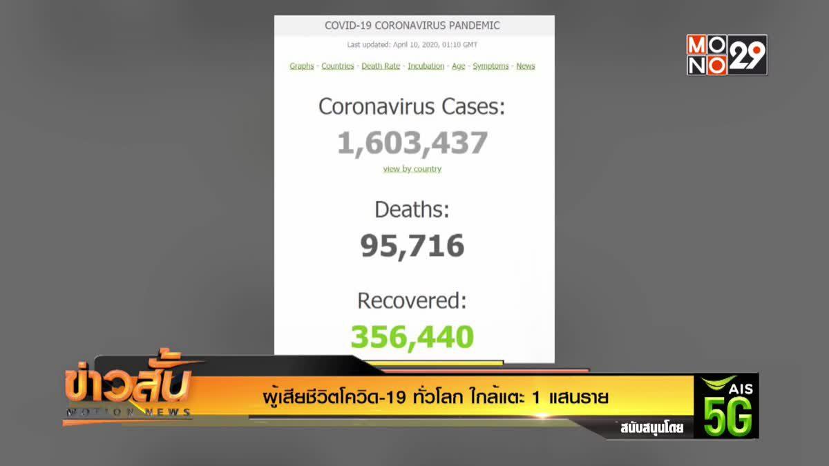 ผู้เสียชีวิตโควิด-19 ทั่วโลก ใกล้แตะ 1 แสนราย