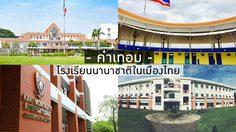 ค่าเทอม โรงเรียนนานาชาติ 2561-2562