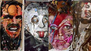 ผลงานศิลปะขั้นเทพ ที่สร้างขึ้นมาจาก ขยะ เหลือใช้….โดยจิตรกรชาวฝรั่งเศส