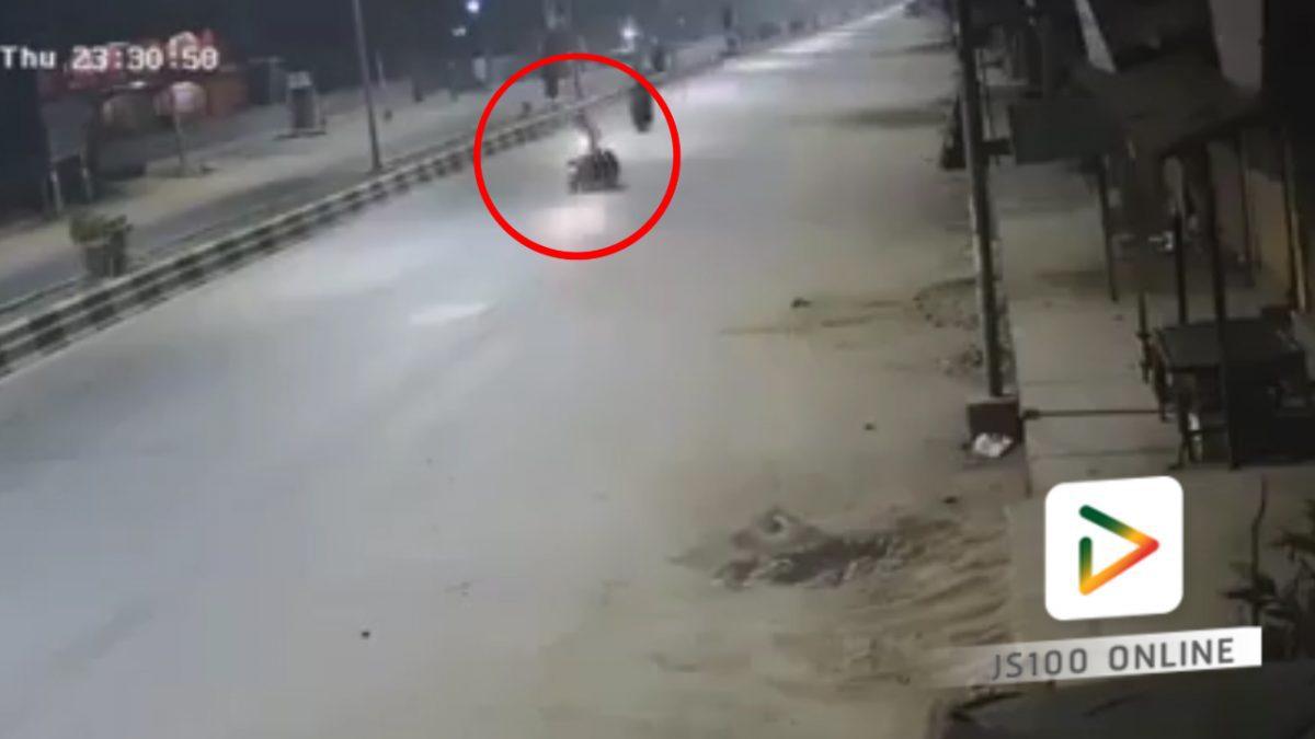 จยย.เสียหลัก พลิกคว่ำกลางถนน..  (22-02-61)