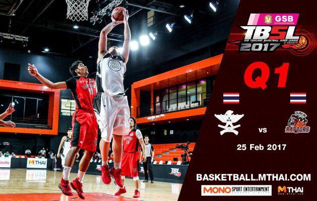 การแข่งขันบาสเกตบอล GSB TBSL2017 Leg2 คู่ที่5 TGE (ไทยเครื่องสนาม) VS Dunkin'Raptors Q1 25/02/60