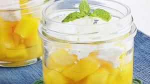 เมนูขนมหวาน หอม สดชื่น Mango and Lime ricotta pot