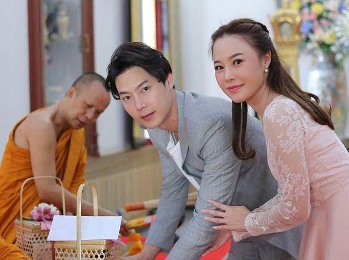 พิธีสงฆ์เมื่อวันที่ 14 พ.ย. 2561 ต๊ะ-แอน แต่งงาน