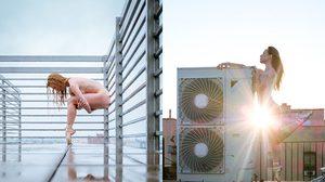ศิลปะบนชั้นดาดฟ้า ช่างภาพถ่ายภาพเหล่านักเต้นชื่อดัง ในธีมแก้ผ้าเต้นบนดาดฟ้า