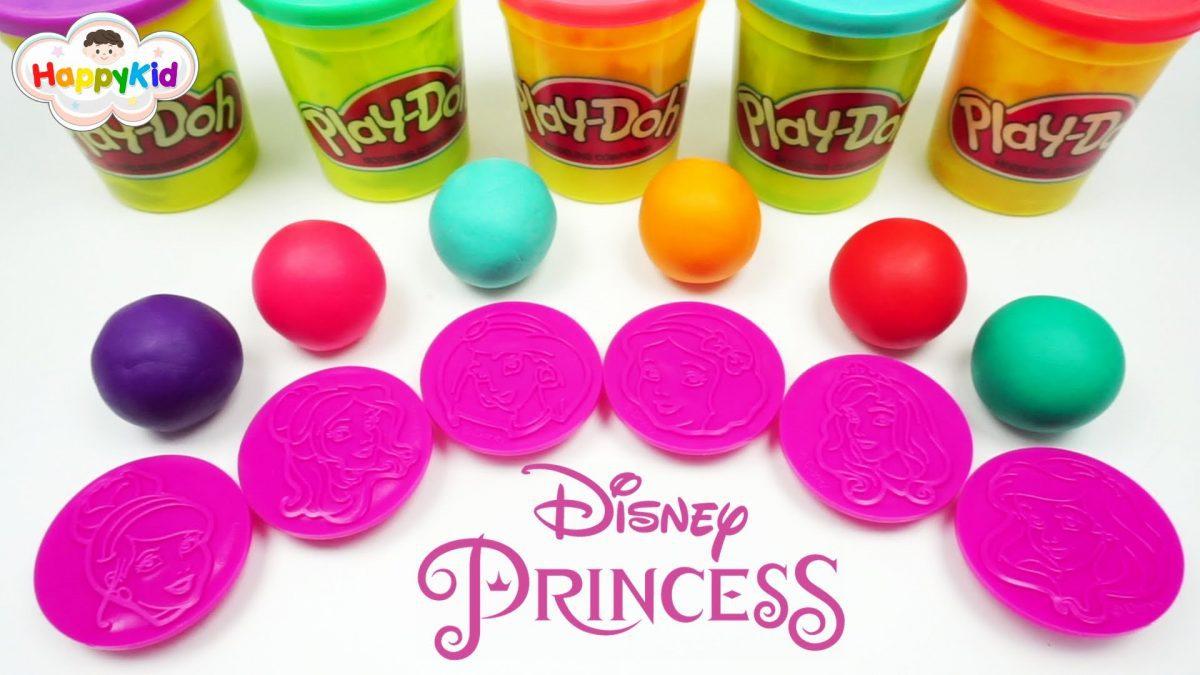 แป้งโดว์เจ้าหญิง | แป้งโดว์ผลไม้ | เรียนรู้สีและคำศัพท์ | Learn Color With Princess Play-Doh