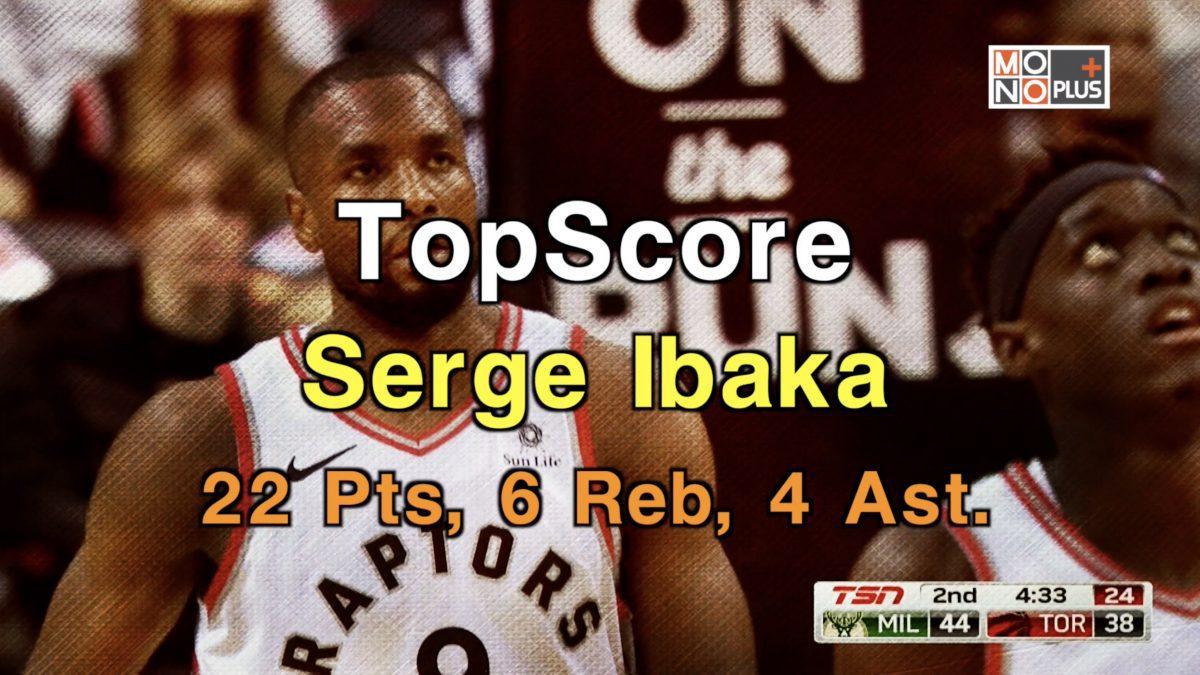High Score Serge Ibaka 22 คะแนน 6 Reb 4 Ast