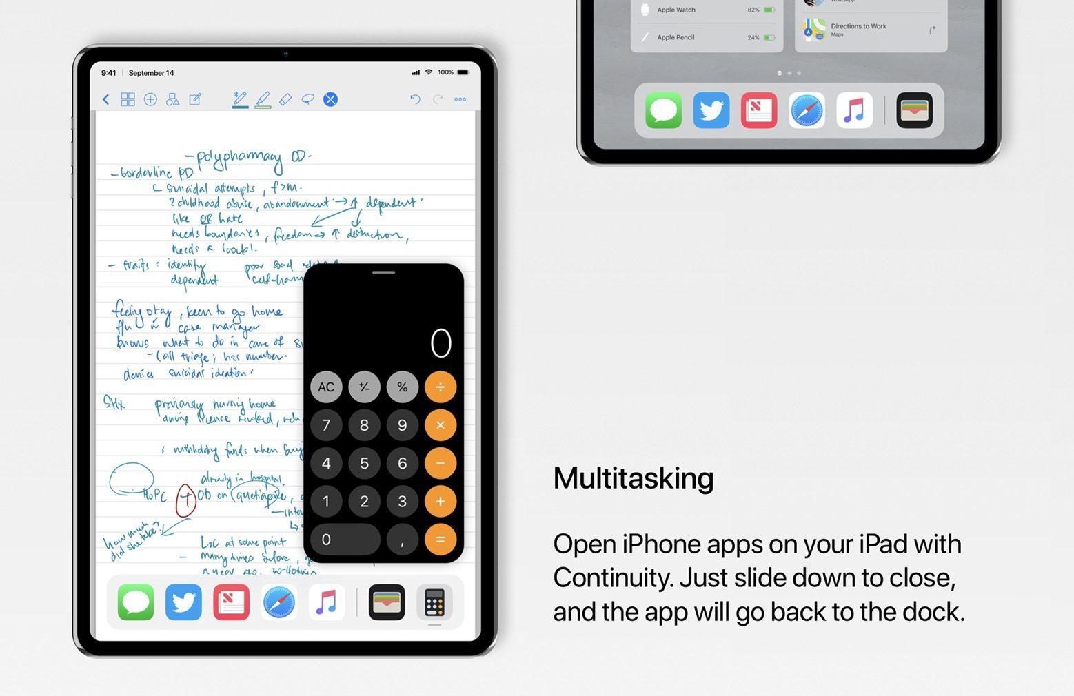 iPad Pro ทำงานแบบ Multitasking