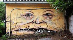 ศิลปะข้างกำแพงเก่า ของศิลปินชาวรัสเซีย