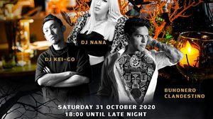 มหานคร แบงค็อก สกายบาร์ ชวนมาสนุกในค่ำคืนวันฮาโลวีน กับ Buhonero Clandestino พร้อมด้วย DJ Nana และ DJ Kei-Go