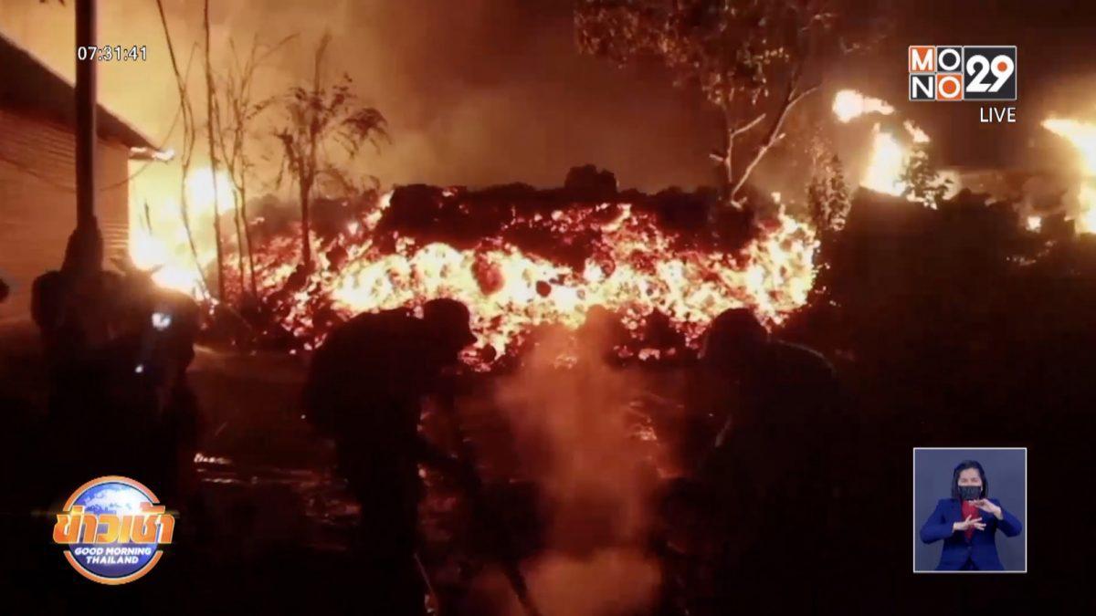 ชาวบ้านคองโก อพยพหนีตาย หลังภูเขาไฟ อาจปะทุอีกรอบ