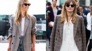 เสื้อสูท Oversize Plaid Blazer ไอเทมสุดคูลที่สาวๆ ต้องมี!