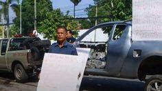 ร้องตำรวจรับผิดชอบ จอดรถไว้ที่โรงพัก แต่รถกลับหาย พบกลายเป็นซากเหล็ก