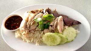 Thai street food: Chicken Rice [Khao Man Gai]