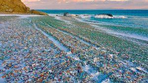 หาดแก้วหลากสี Glass Beach เที่ยวรัสเซีย