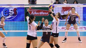 เกือบทำได้! ทีมตบสาวไทย ฮึดสู้เต็มที่ ก่อนพ่าย จีน สูสี 2-3 เซต ศึกลูกยาง เอวีซี คัพ