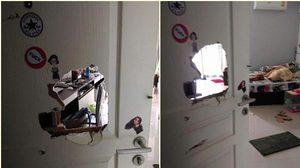 แม่หนุ่มเมายาอาละวาด บุกพังประตูห้องพักสาว ยอมชดใช้ค่าเสียหาย !