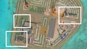 ภาพชัดๆ จีนติดตั้งอาวุธบนเกาะเทียมในทะเลจีนใต้