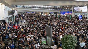 สนามบินฮ่องกง ให้บริการตามปกติอีกครั้งแล้ว หลังปิดจุด Check-in หนีการชุมนุม