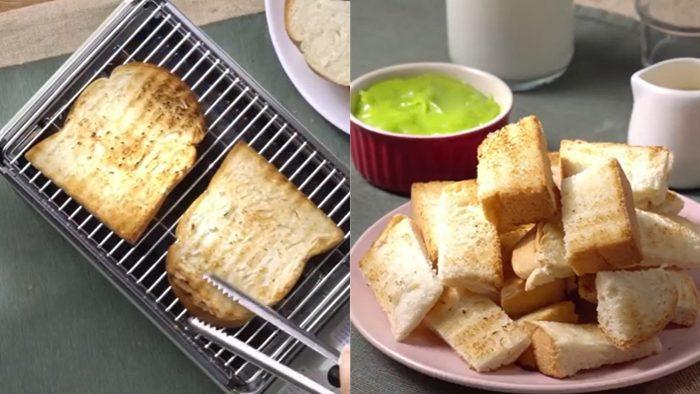 วิธีทำ ขนมปังปิ้งกับสังขยาใบเตย เมนูทำง่าย อร่อย หวานเบาๆ